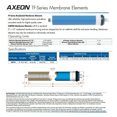 Axeon TF-series Membrane Elements RO system 50-100-150-200 GPD