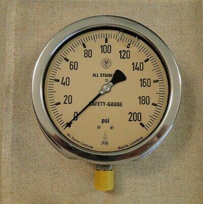 Vintage Mc Daniel Controls Stainless Pressure Safetly Gauge Steam Punk 6.75