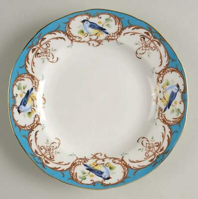 Grace's Teaware BIRDS PEACOCK BLUE Dessert Pie Plate 10446052 ()
