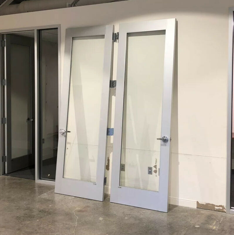 Commercial Aluminum Storefront DOOR & FRAME & SIDE GLASS - Hinges