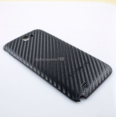 Carbon Fiber Back Battery Cover Case Door For Samsung Galaxy Note II 2 GT N7100 on Rummage
