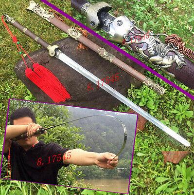 Chinese Tai Chi Dao Sword Stainless Steel WuShu Flexible Sword KungFu Taiji Jian