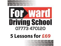 Driving lesson: Terry Ward (Forward Driving)