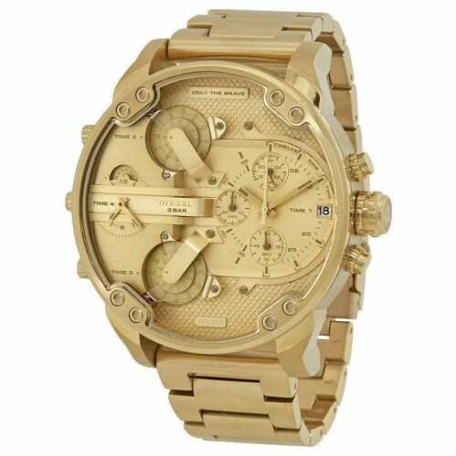 Original Diesel Herren Uhr DZ7399 XL Mr Daddy 2.0 Gold -Farben Neu & Ovp