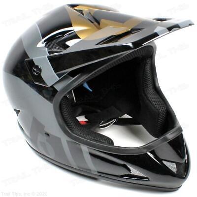 661 SixSixOne Rage XL Full Face Bicycle BMX Track MTB Helmet - Black / Gold 661 Full Face Helmet