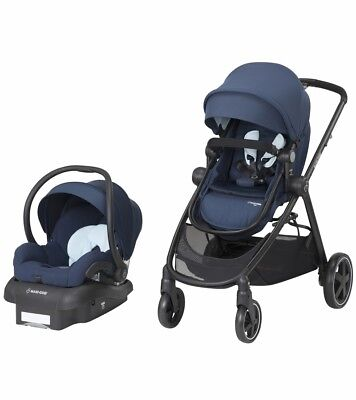 Maxi Cosi Zelia Travel System Aventurine Blue- Stroller & Mico 30 Car Seat New!!