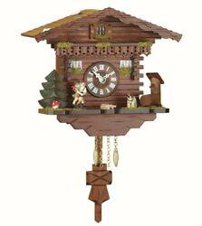 Black Forest Clock Swiss House, turning dancers  TU 256 PQ NEW