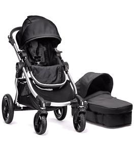 Baby Jogger City Select FREEBIES double pram black Sefton Bankstown Area Preview