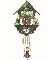 Kuckulino Black Forest Clock Black Forest House with quartz mov.. TU 2004 SQ NEW