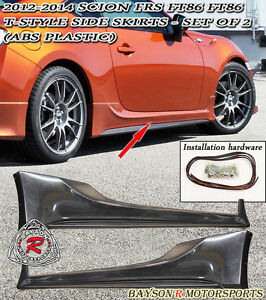 T-Style Side Skirts (ABS) Fits 12-18 BRZ FR-S Toyota 86