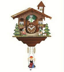 Kuckulino Black Forest Clock Swiss House with quartz movement a.. TU 2041 SQ NEW