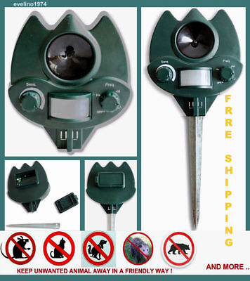 Animal Deterrent,Ultrasonic,Dog,Cat,Mouse,Bear.. Pest Repeller, Home,Garden,Lawn