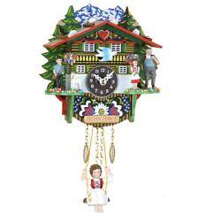 Black Forest Clock Swiss House  TU 503 SQ NEW