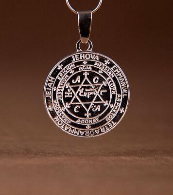 Salomons Siegel Talisman Anhänger Hexagramm Zeichen Silber 925 Amulette 3 cm