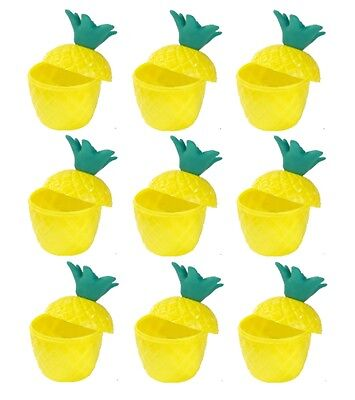 12 x Hawaiian Luau Hula Tropical Plastic Party Pineapple Punch Drink Cups SC01 - Plastic Punch Cups