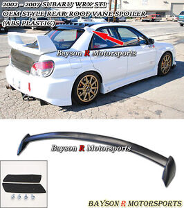 02-07 Impreza JDM Roof Screen Spoiler Wing (ABS)