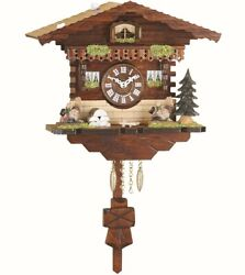 Kuckulino Black Forest Clock Swiss House with quartz movement a.. TU 2035 PQ NEW