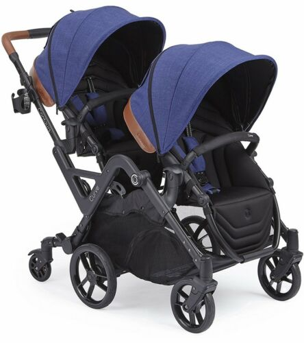 Contours Curve Double Tandem Stroller in Indigo Blue - BRAND NEW! (open box)