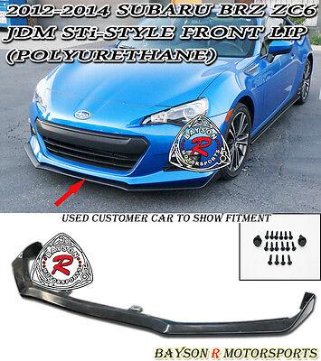 12-15 Subaru BRZ STi Style Front Bumper Lip (Urethane)