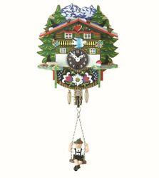 Black Forest Clock Swiss House  TU 57 SQ Bayern NEW