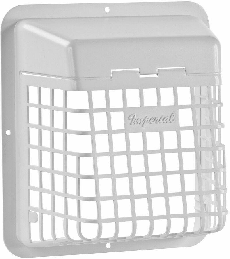 IMPERIAL 4-in Plastic Pest Guard Dryer Vent Cap Bathroom Fan