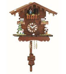 Black Forest Clock Swiss House, turning dancers  TU 260 PQ NEW