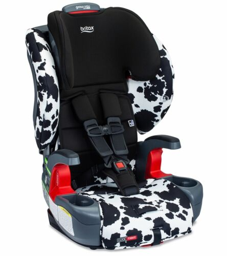 Britax Grow With You ClickTight Booster Car Seat - Cowmooflage Safe Wash Fabric!