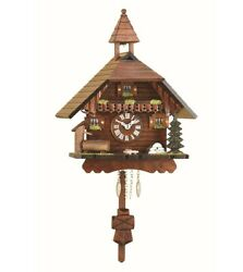 Kuckulino Black Forest Clock Black Forest House with quartz mov.. TU 2034 PQ NEW