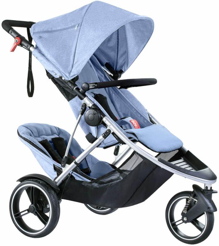 Phil & Teds Dash V5 Stroller & Double Kit - Blue Marl - NEW!