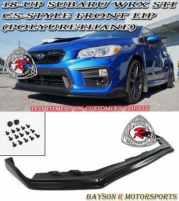 CS-Style Front Lip (Urethane) Fits 18-Up Subaru WRX STi