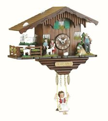 Kuckulino Black Forest Clock Swiss House with turning goats, qu.. TU 2020 SQ NEW