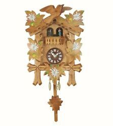 Kuckulino Black Forest Clock Black Forest House with quartz mov.. TU 2052 PQ NEW