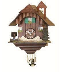 Kuckulino Black Forest Clock Black Forest House with quartz mov.. TU 2039 PQ NEW