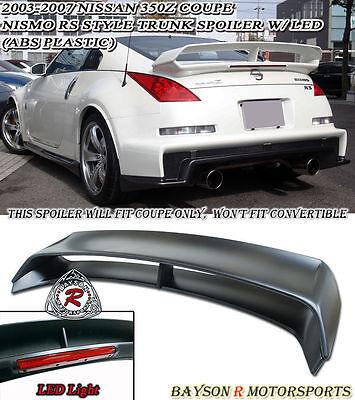 N1 RS-Style Rear Trunk Spoiler Wing (ABS) Fits 03-08 Nissan 350z  Nissan 350z Rear Spoiler