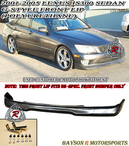 01-05 Lexus IS200/IS300 4dr GD Front Bumper Lip (Urethane)