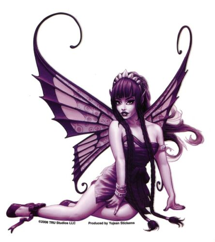 #SEXY #FAIRY #PURPLE FAERIE #FAE VINYL #BumperSticker #tablet #STICKERS/#DECALS