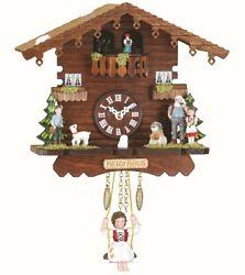 Black Forest Clock Swiss House, turning dancers  TU 505 SQ NEW