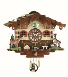 Kuckulino Black Forest Clock Swiss House with quartz movement a.. TU 2036 PQ NEW