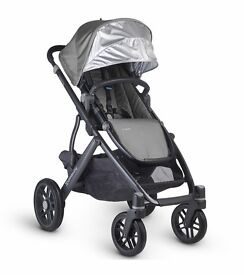 New model Uppababy vista 2016 pascal grey can post vgc
