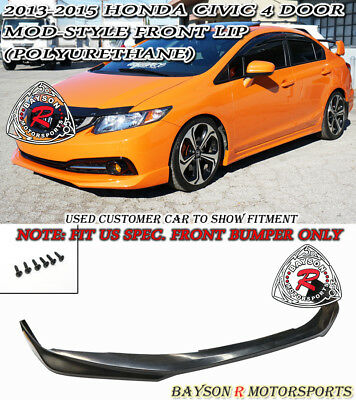 Mod-Style Front Lip (Urethane) Fits 13-15 Civic 4dr [US-Spec Only]