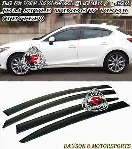 Mazda 3 hatch parts accessories ebay jdm window rain guard visors tinted fits 14 18 mazda 3 4 publicscrutiny Image collections