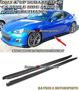CS-Style Side Skirts (Urethane) Fits 12-18 BRZ FR-S FRS FT86 GT86 ZC6 ZN6
