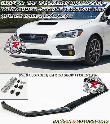 Limited Parts - V-Limited Style Front Lip (Urethane) Fits 15-17 Subaru WRX STi