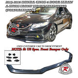 A-Style Front Lip (Urethane) Fits 13-15 Civic 4dr [US-Spec Only]