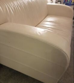 White leather sofa. FREE delivery in Derby