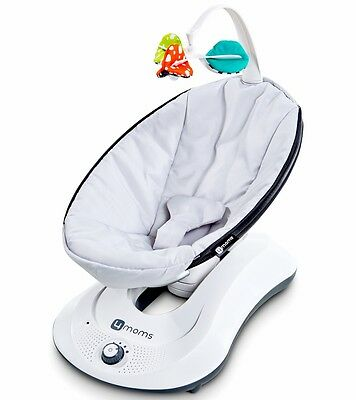 4Moms Rockaroo Baby Bouncer Carrier Infant Swing Classic Grey Nursery Cradle