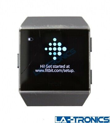 Fitbit Ionic Smartwatch Charcoal Smoke Gray FB503 - Pebble Only *READ*