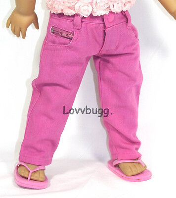 Hot Pink Real Jeans Pants 18 inch American Girl Doll Clothes