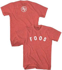 98186ec64ca9 Foo Fighters-Foos Logo- X-Large Heather Red Lightweight T-shirt