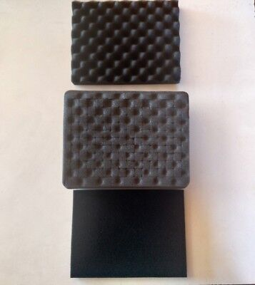 3 piece Replacement foam for Pelican 1200. Lid, Middle Pluck, bottom pad 10X9X5